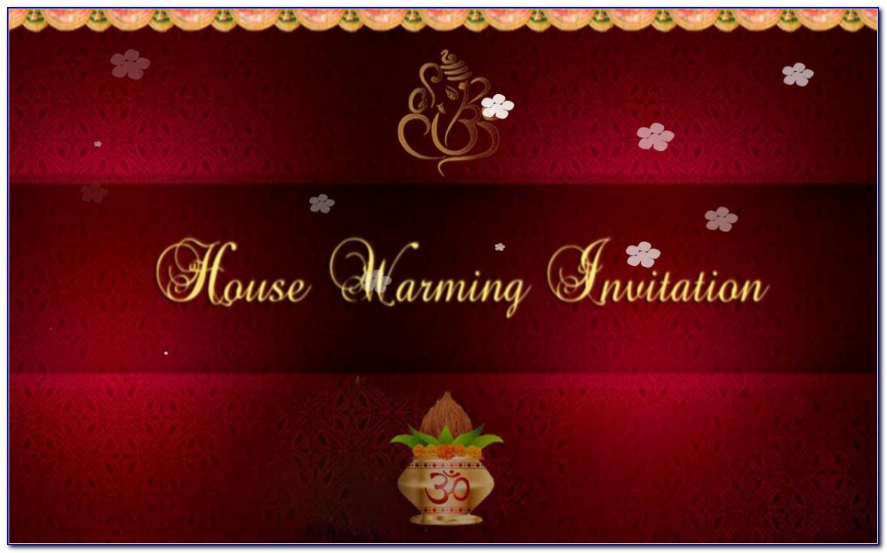 Housewarming Invitation Card Template India