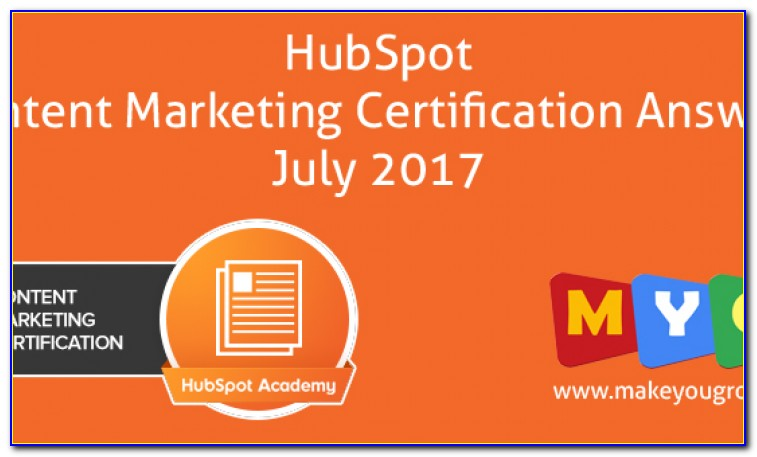 Hubspot Content Marketing Certification Answers 2018 Pdf