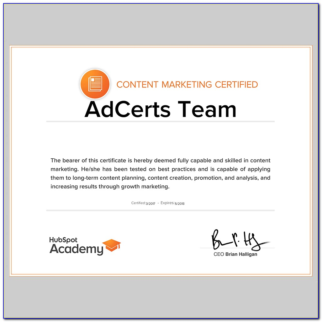 Hubspot Content Marketing Certification Answers 2019