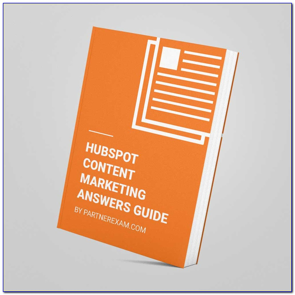 Hubspot Content Marketing Certification Answers