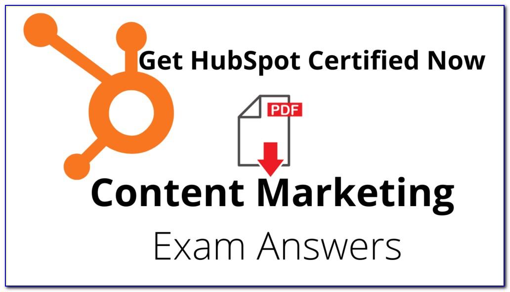 Hubspot Content Marketing Certification Course