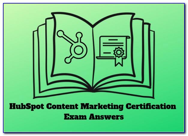 Hubspot Content Marketing Certification Exam Answers