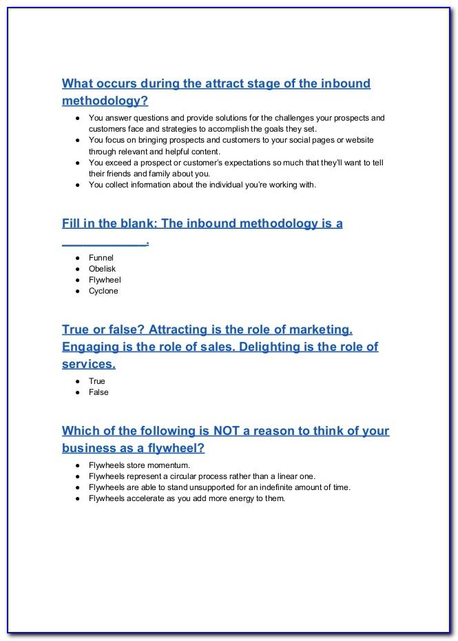Hubspot Inbound Certification Review