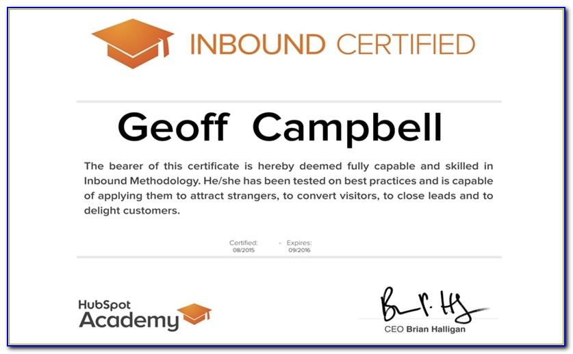 Hubspot Inbound Marketing Certification Answer