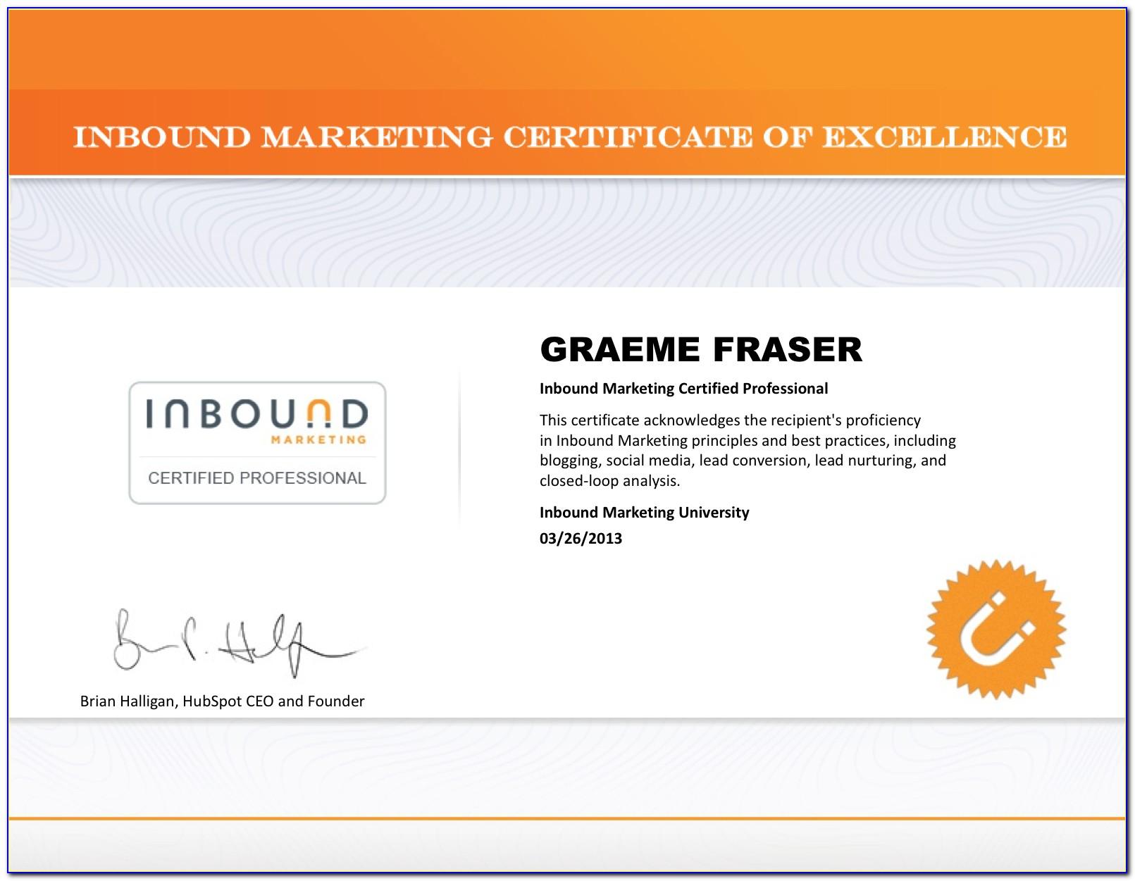 Hubspot Inbound Marketing Certification Answers 2019 Pdf