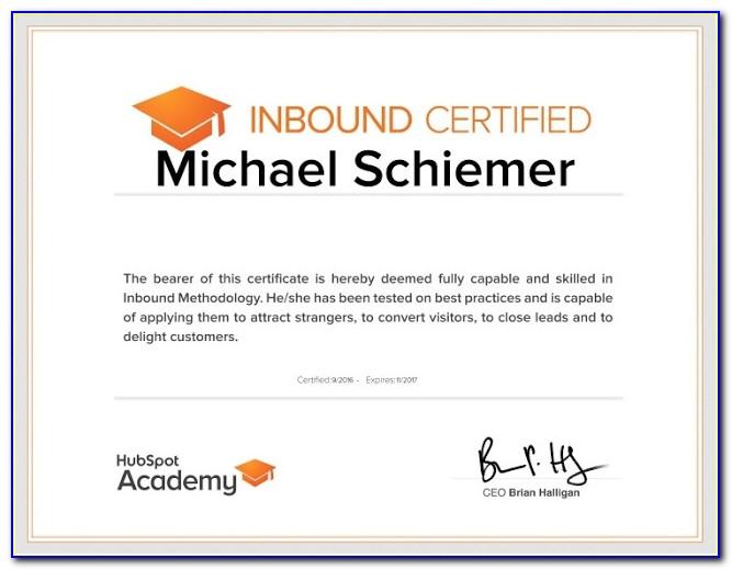 Hubspot Inbound Marketing Certification Course