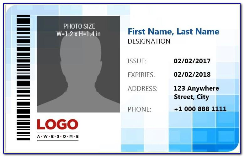 Id Card Template Word Download