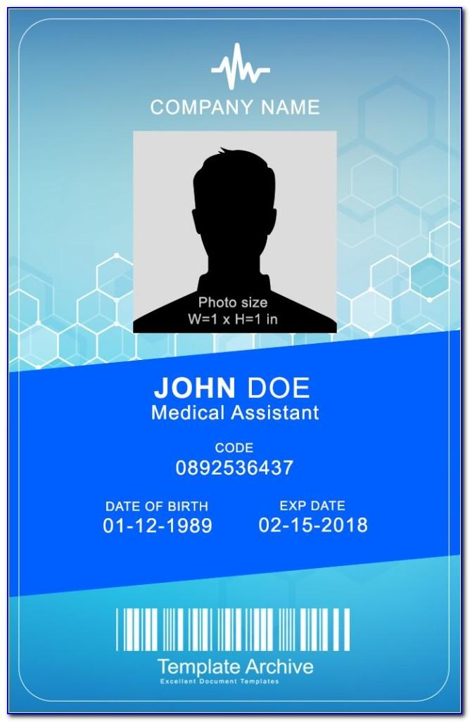 Id Card Template Word Free Download