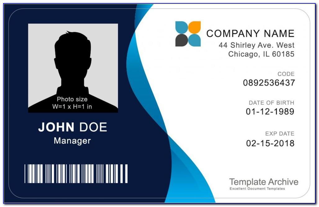 Id Card Template Word Free