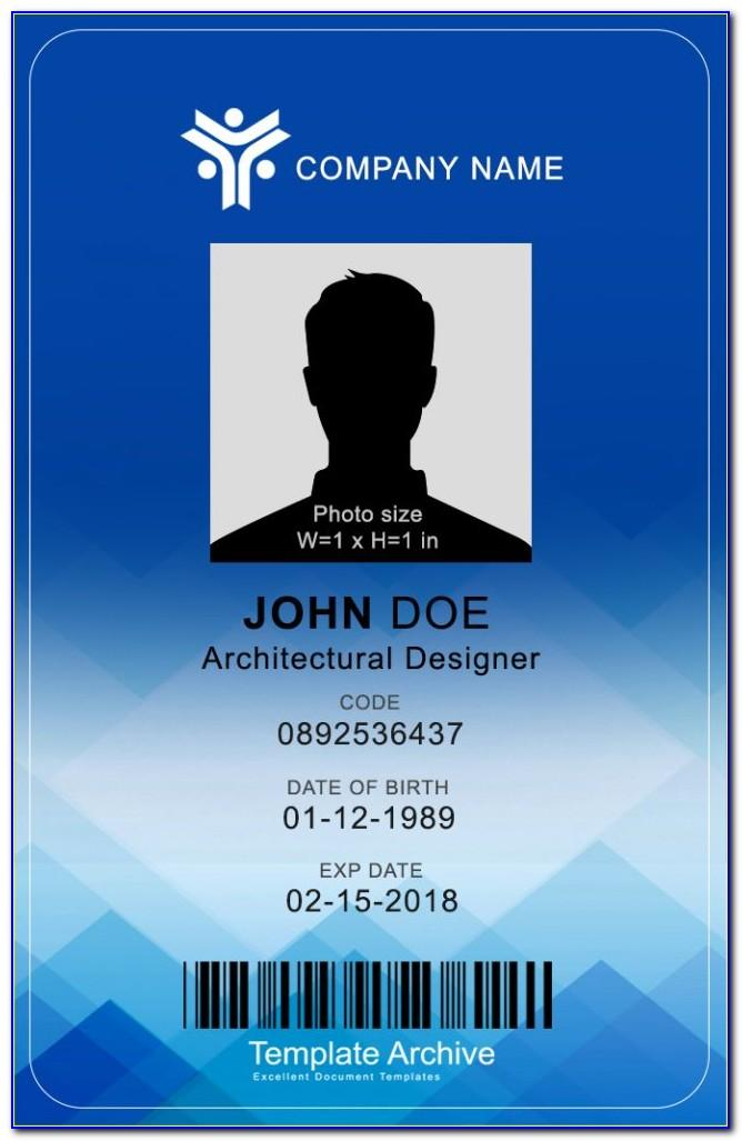 Id Card Template Word Software