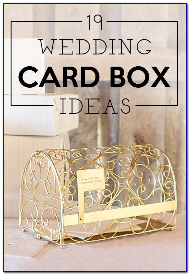 Ideas For Card Box At Wedding Reception