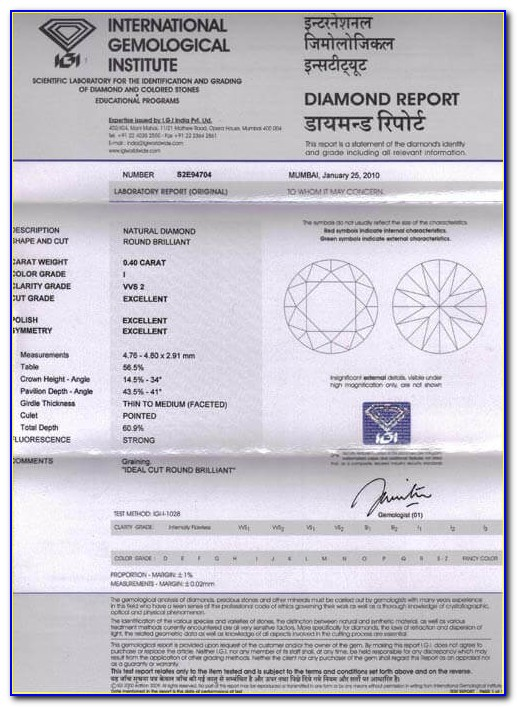 Igi Diamond Certification Charges