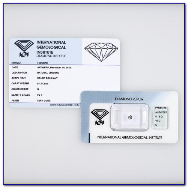 Igi Diamond Certification Chart