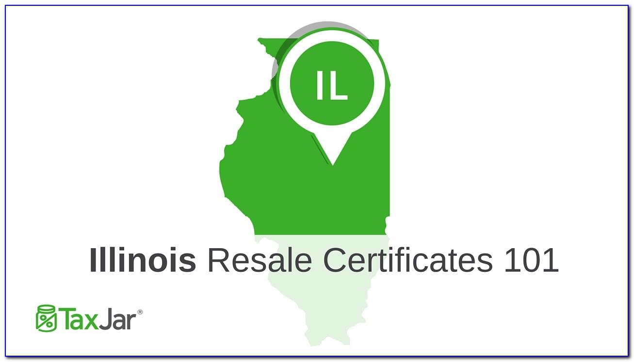 Illinois Resale Certificate Cost