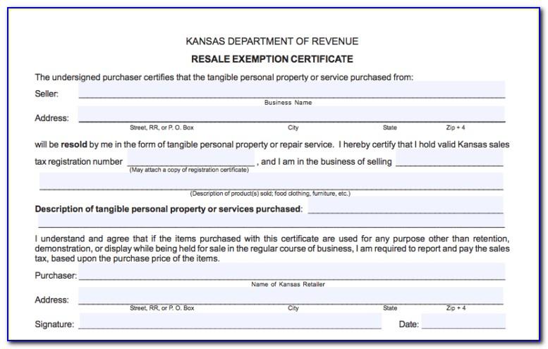 Illinois Resale Certificate Form