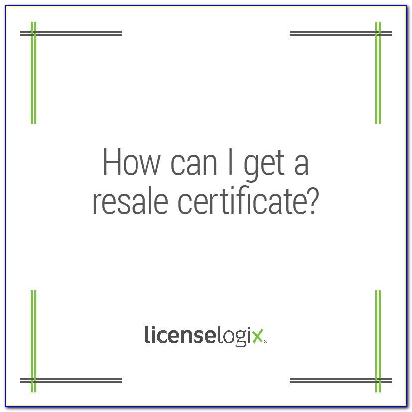 Illinois Resale Certificate Number