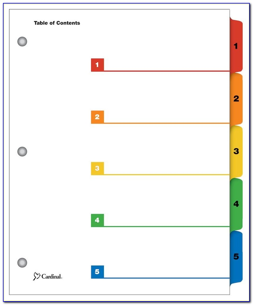 Index Card Divider Template