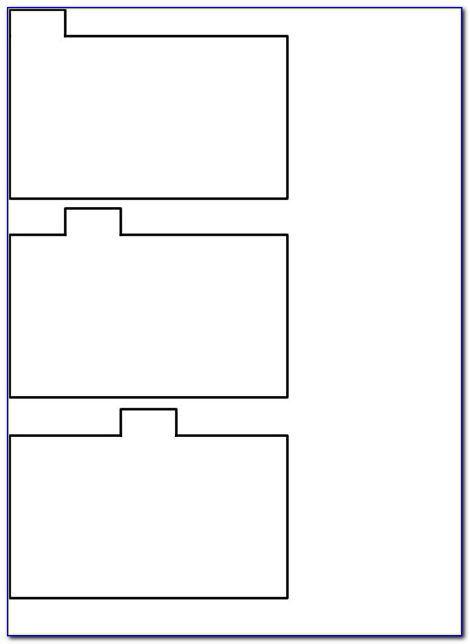 Index Card Tab Divider Template