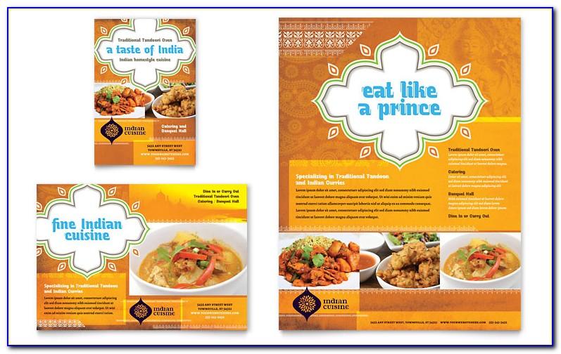 Indian Restaurant Menu Card Samples