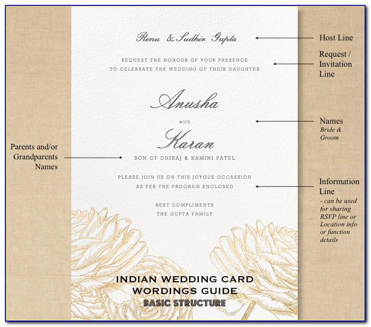 Indian Wedding Card Wordings In English
