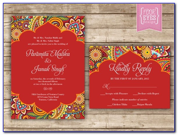 Indian Wedding Invitation Card Designs For Friends