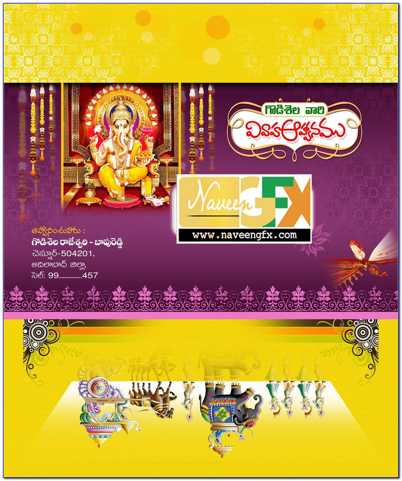 Indian Wedding Invitation Cards Online Template Free