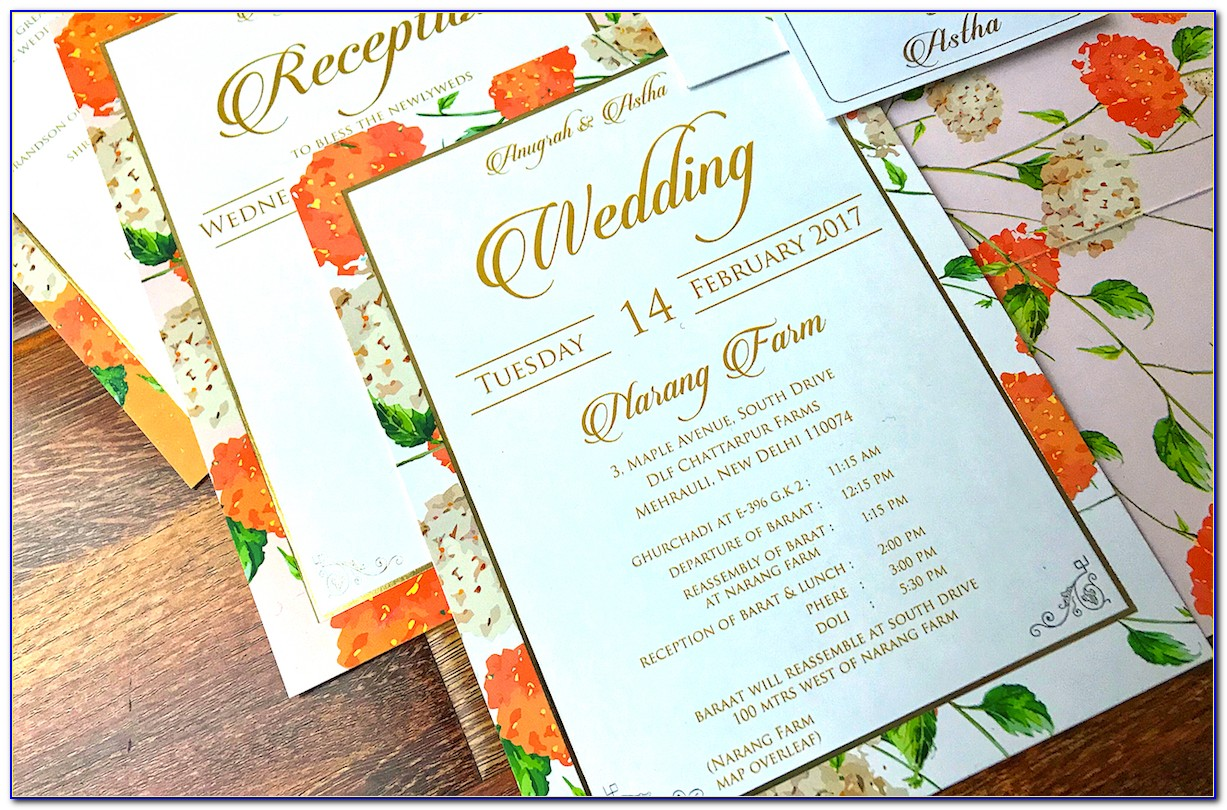 Indian Wedding Invitation Cards Wordings In English