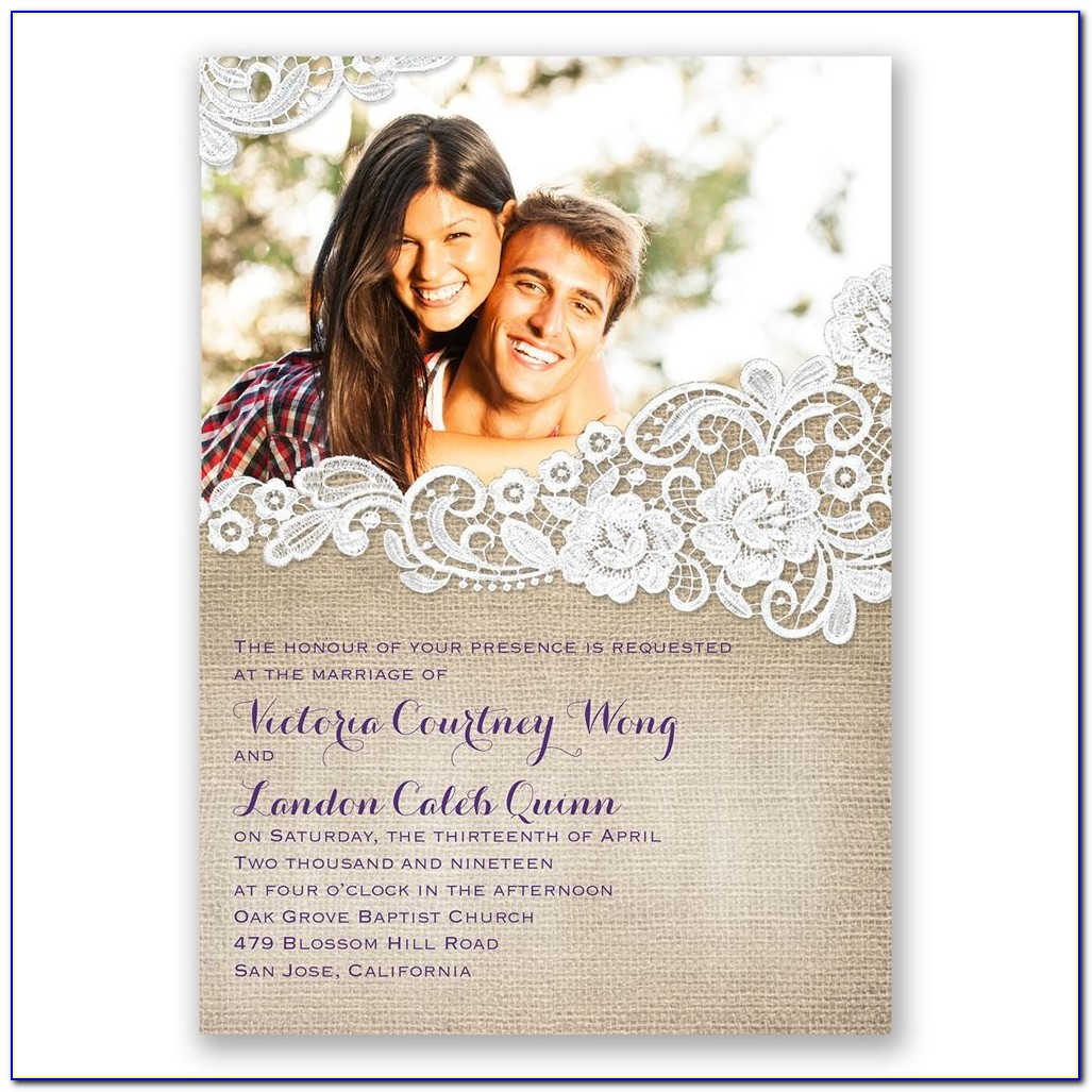 Inexpensive Photo Wedding Invitations With Rsvp Cards