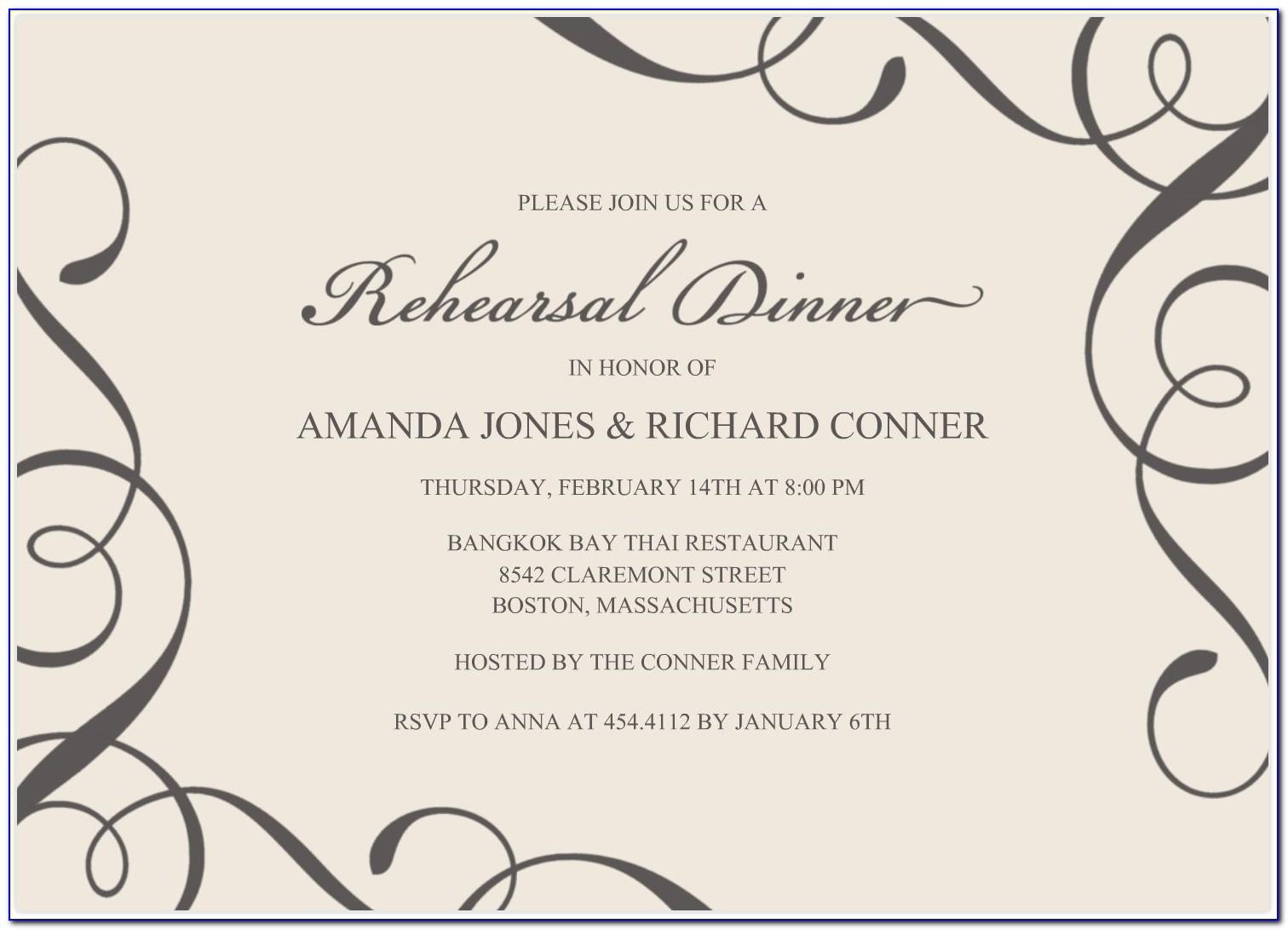 Invitation Card Design Template For Event