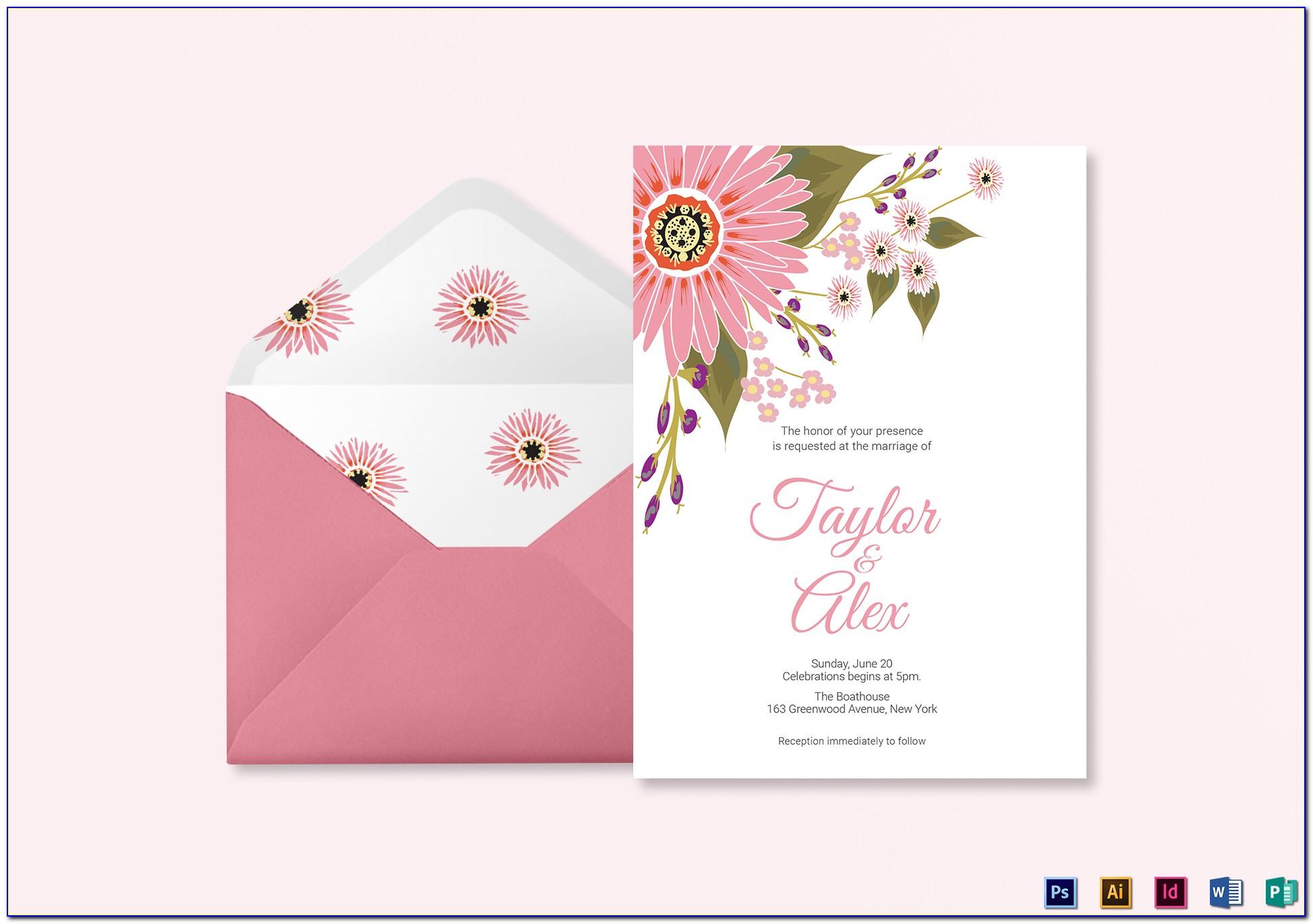 Invitation Card Design Template Online