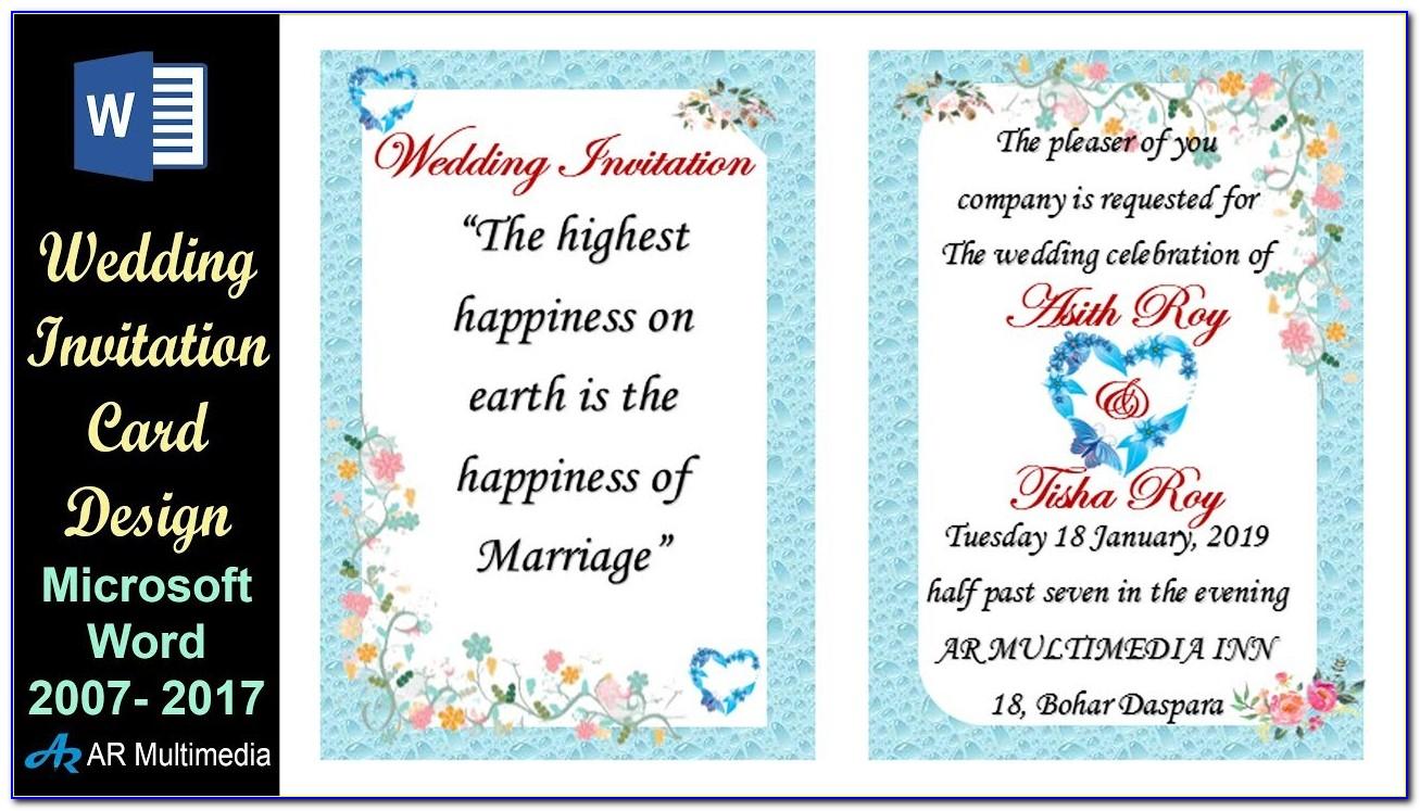 Invitation Card Design Template Photoshop