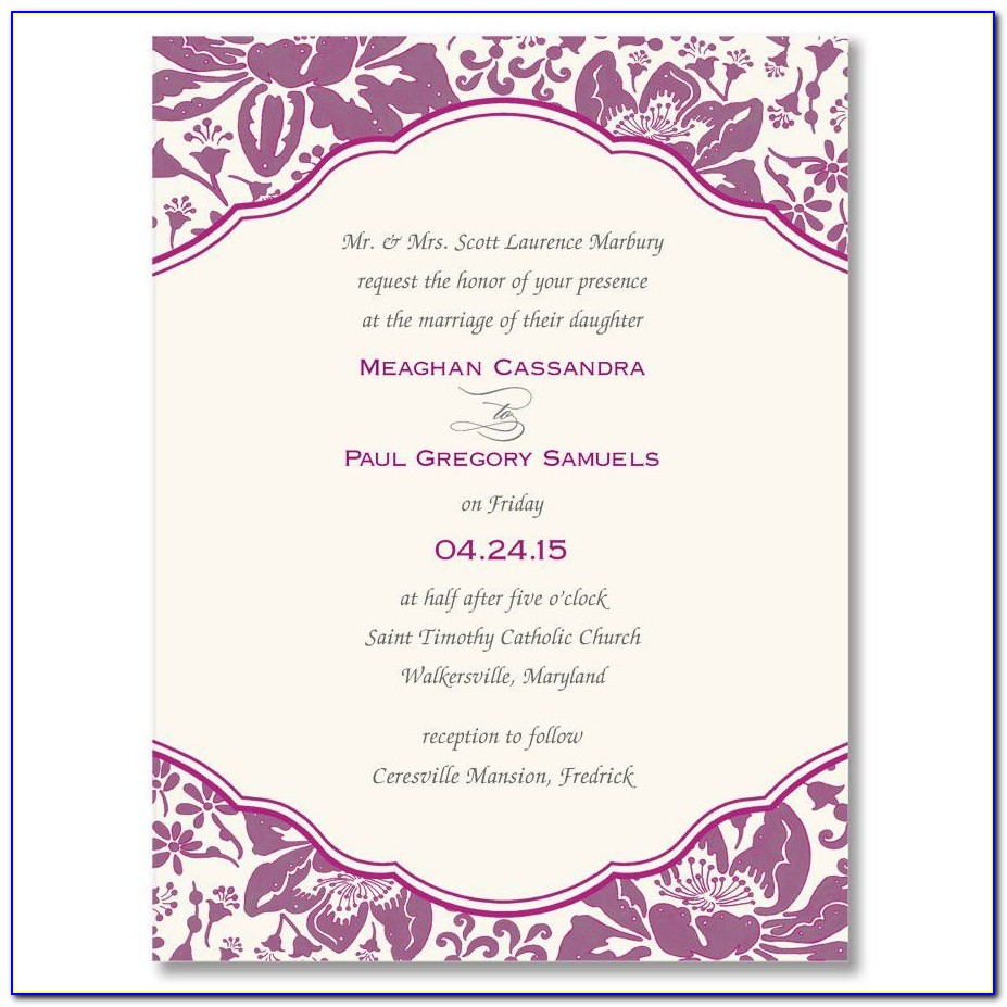 Invitation Card Design Template Word