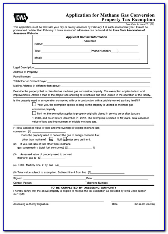 Iowa Sales Tax Exemption Certificate 2018