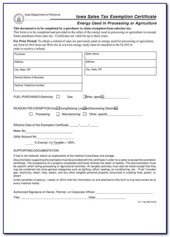 Iowa Sales Tax Exemption Certificate Verification