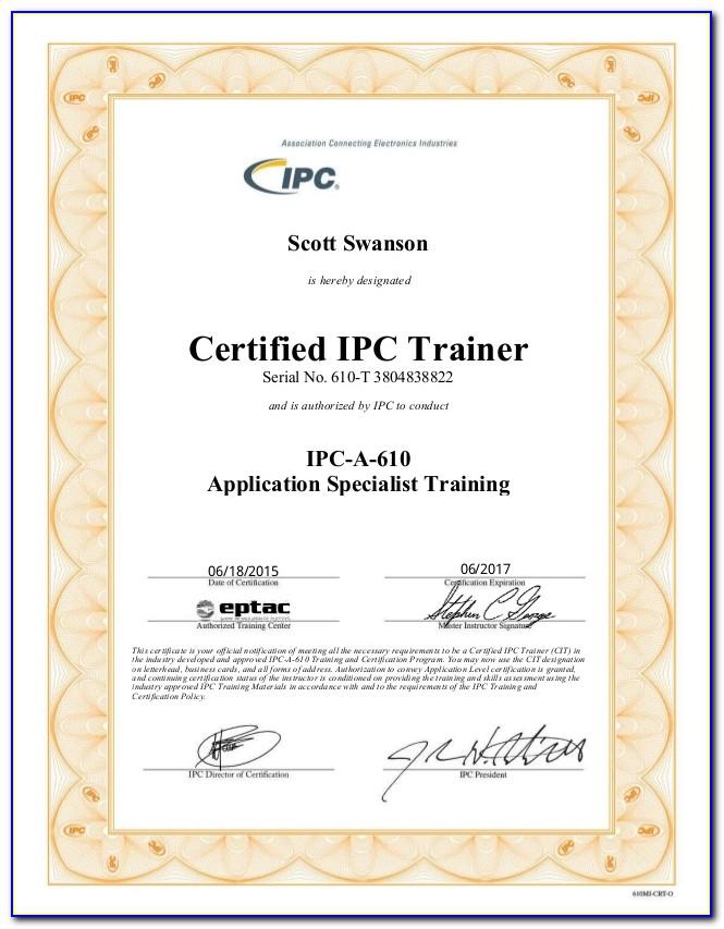 Ipc 610 Certification Cost