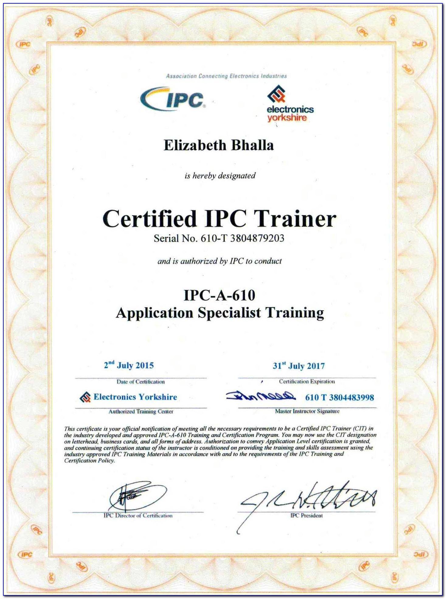 Ipc 610 Certification Online