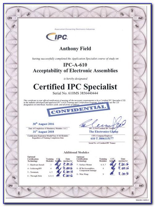 Ipc 610 Certification San Diego