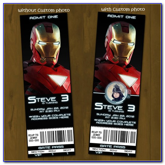 Iron Man Invitation Card