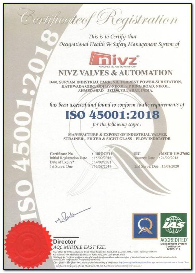 Iso 45001 Certification Benefits