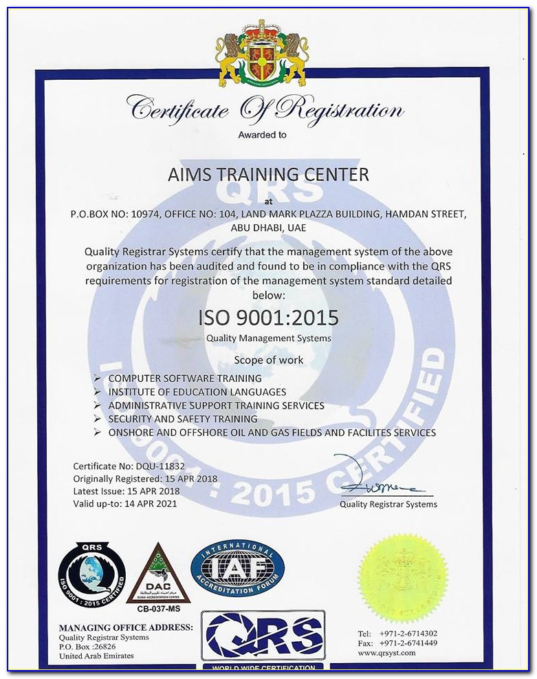 Iso 45001 Certification Meaning
