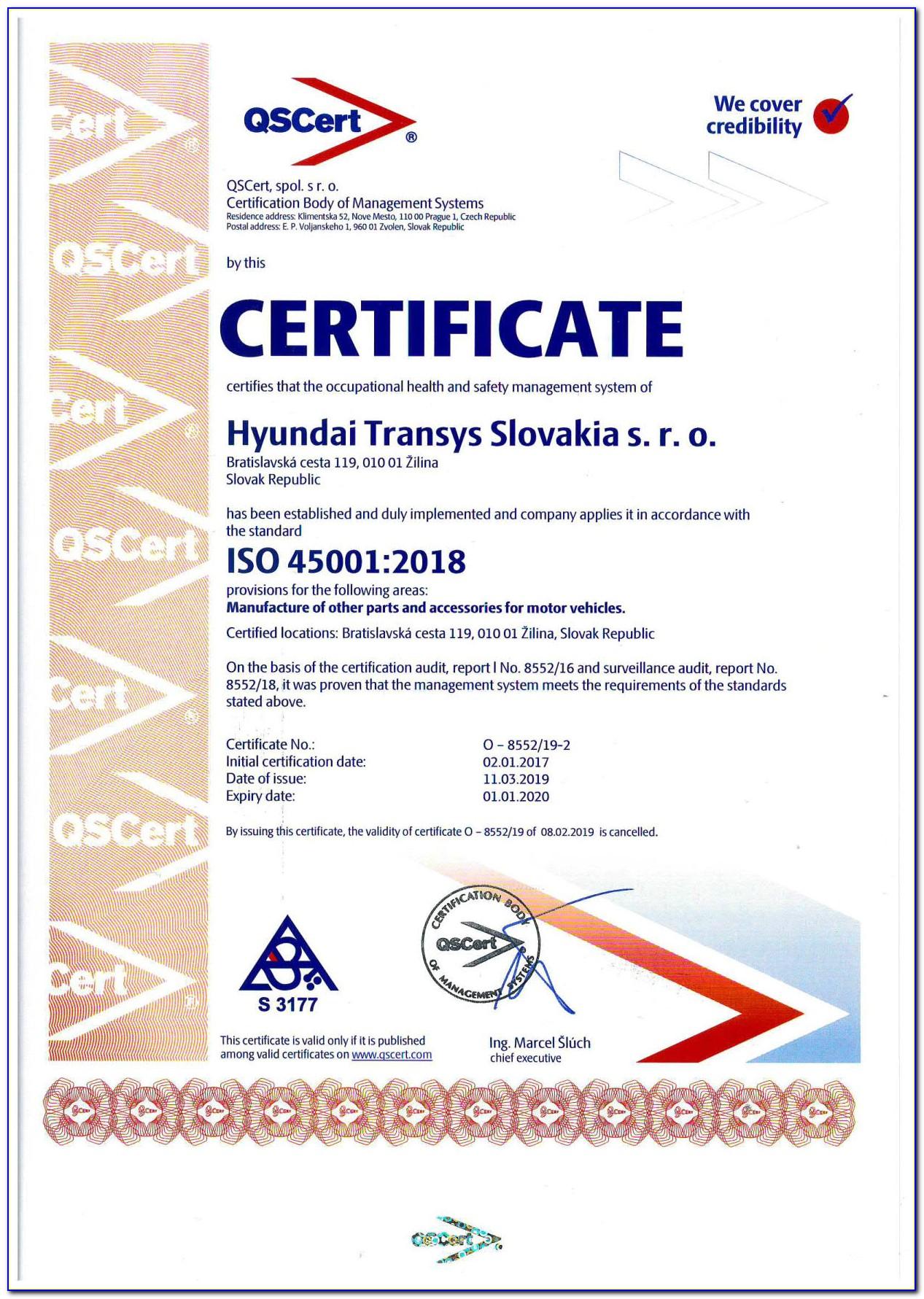 Iso 45001 Certification Training