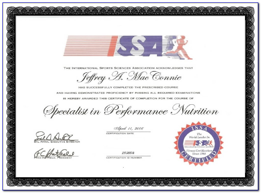 Issa Master Trainer Certification Reviews