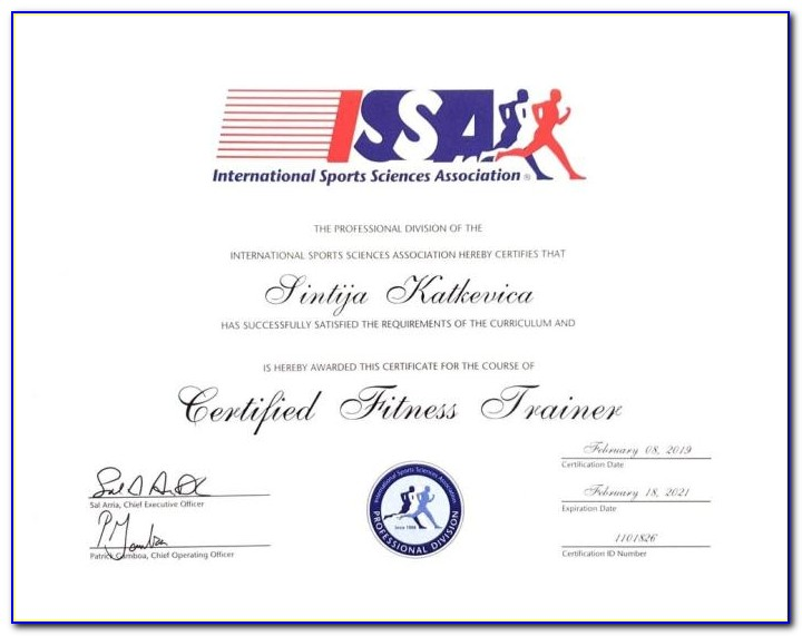 Issa Personal Trainer Certification Final Exam Answers