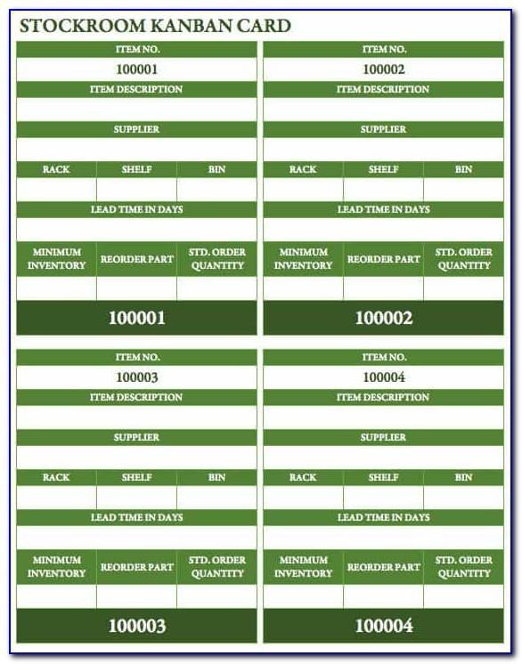 Kanban Task Card Template