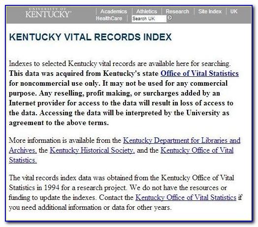 Kentucky Dept Of Vital Statistics Birth Certificate