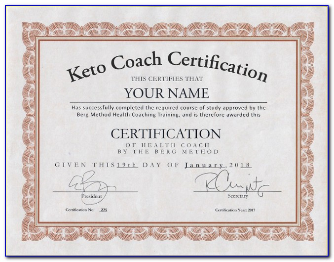 Keto Coach Certification Canada