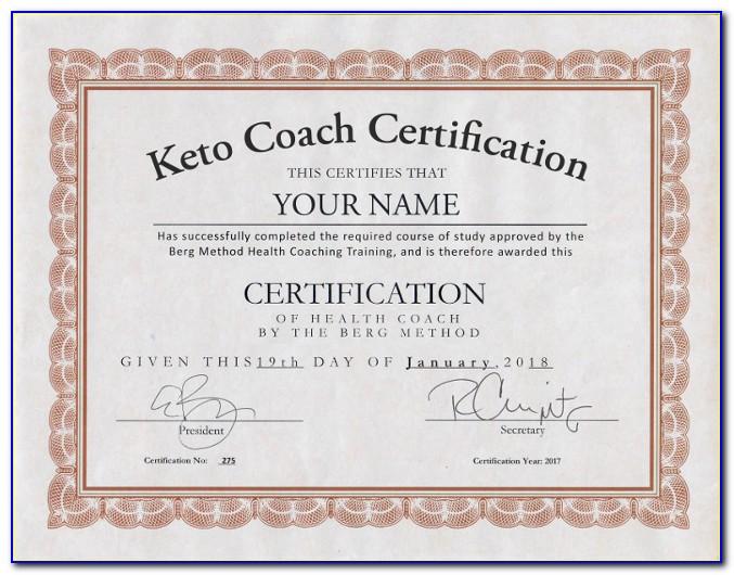 Keto Health Coach Certification