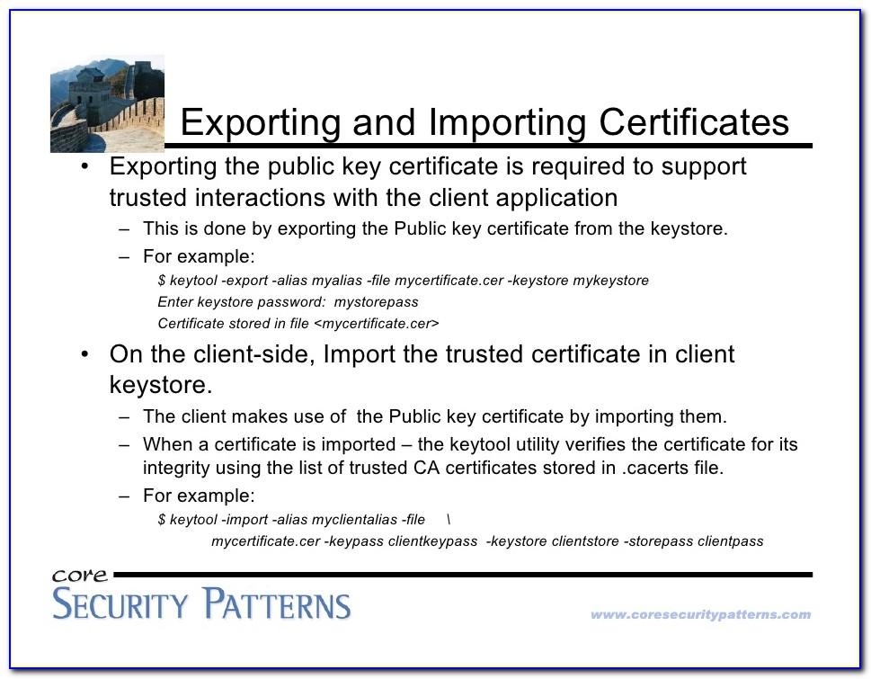 Keytool Import Certificate Java Cacerts