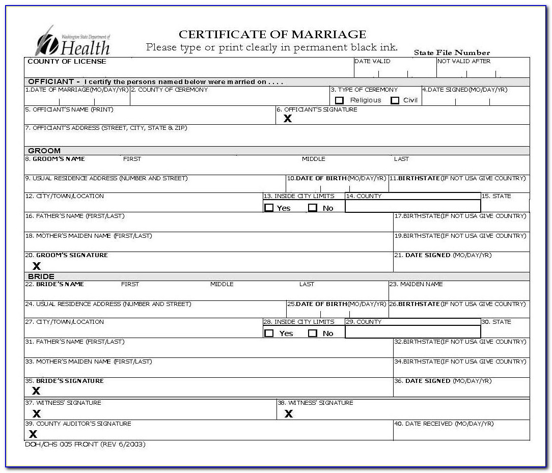 King County Marriage Certificate Search