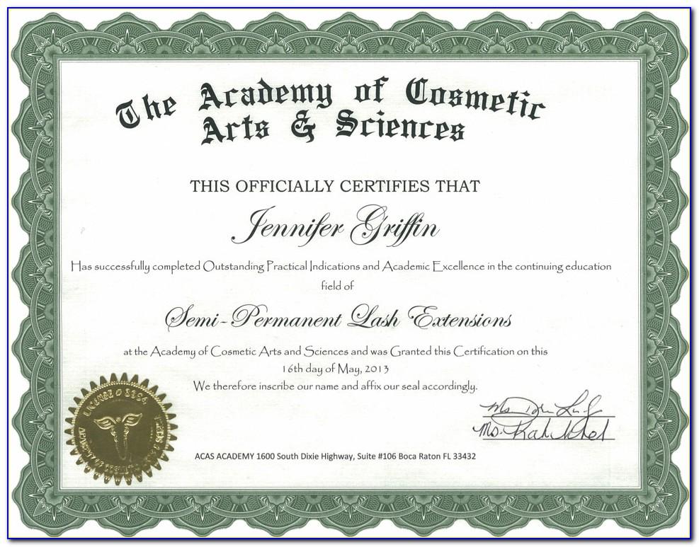 Lash Tech Certification